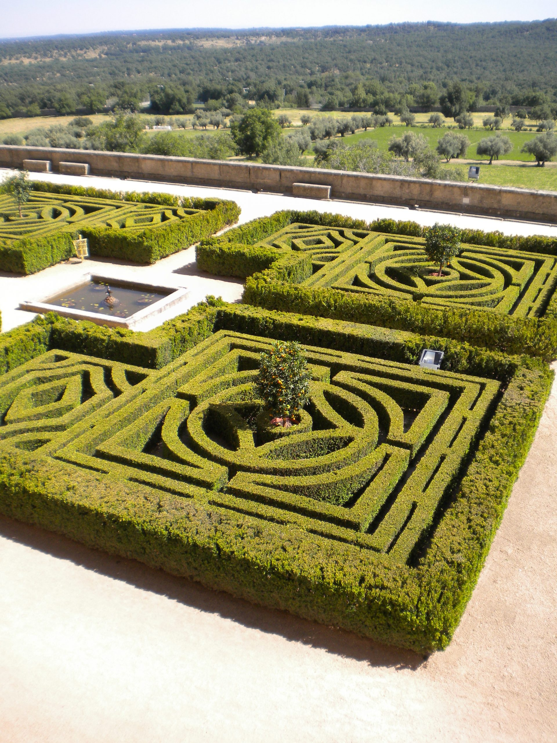 Monastery_El_Escorial_Spain_Gardens_Old_Style_Cut_Into_A_Maze_Pattern_for_Walking